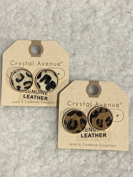 All My Life Leopard Pony Hair Stud Earring In Multiple Colors