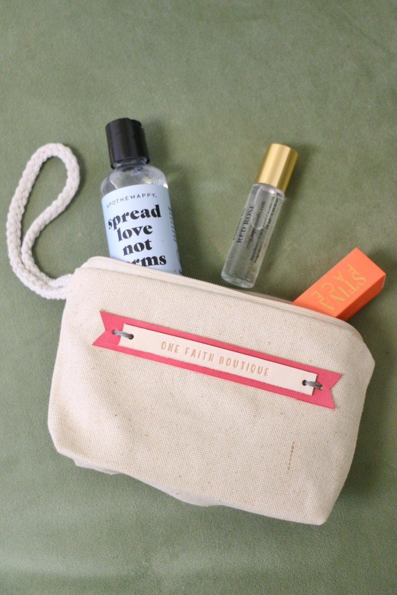 Cutest Ever One Faith Boutique Cosmetic Bag
