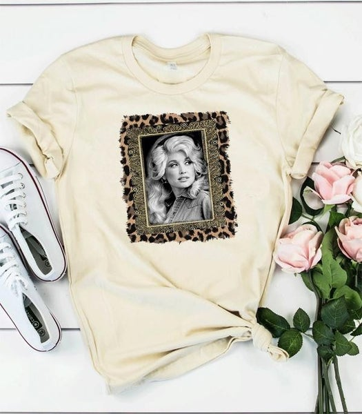 ***PRE-ORDER*** Portrait Of Dolly Graphic tee With Leopard Accents- Sizes 4-12