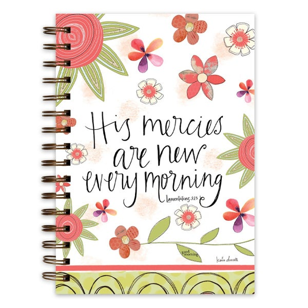His Mercies are New Every Morning Spiral Bound Journal