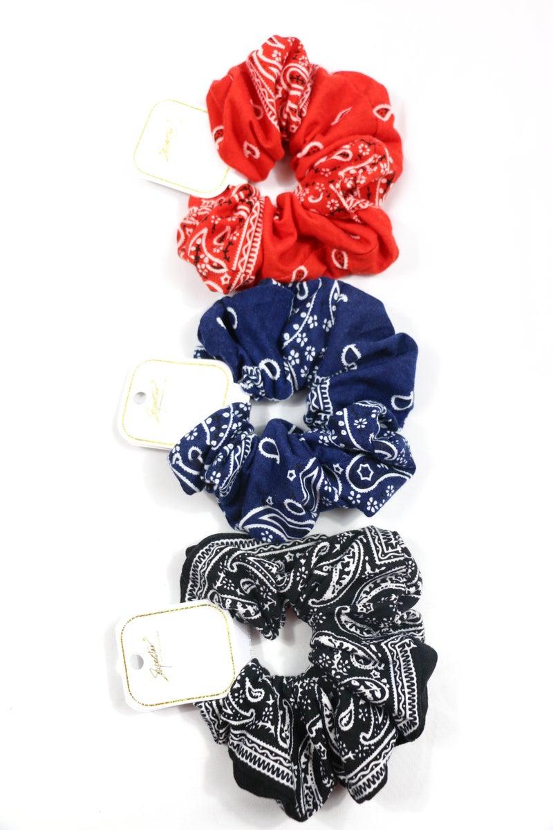 Summer Nights Bandana Scrunchie in Multiple Colors