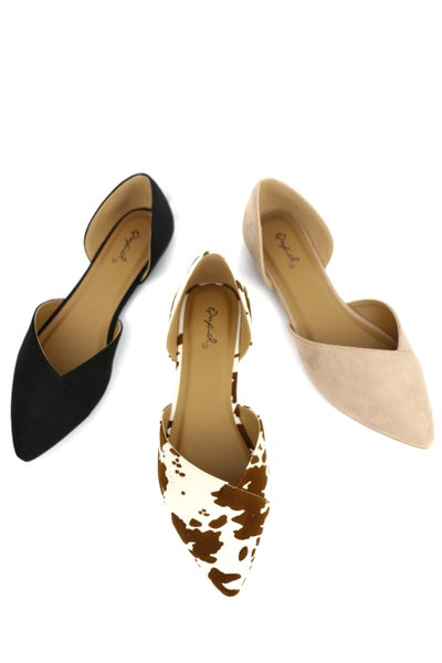 Go The Extra Mile Cut Out Flats In Multiple Colors Sizes 5.5-10