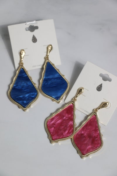 Perfect Day Pointed Teardrop Earring In Multiple Colors