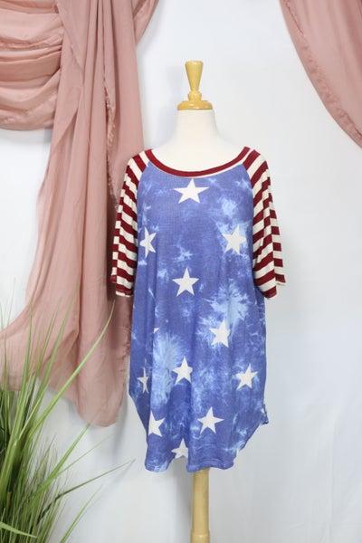 Love My Stars & Stripes Raglan Top - Sizes 12-20