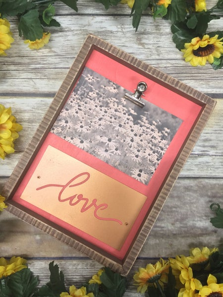 Love Box Frame Decor