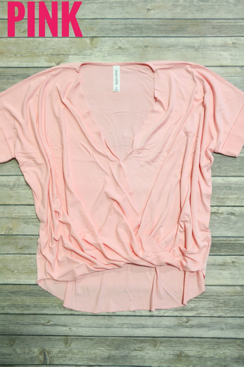 Lost in the Moment  Crepe Layered-Look Draped Front Top in Multiple Colors ~ Sizes 4-20