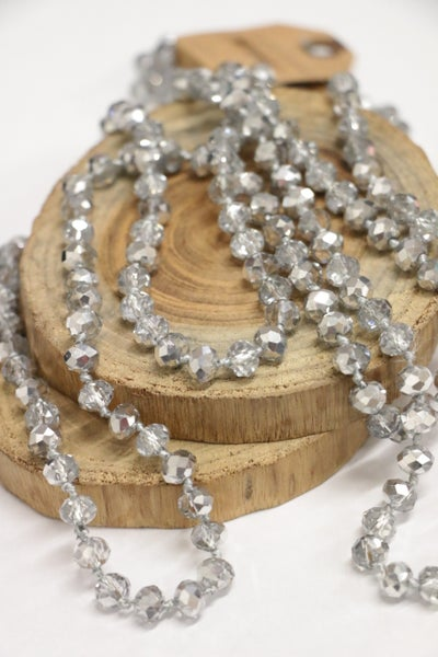 Silver Stone Point Of Perfection Beaded Necklace