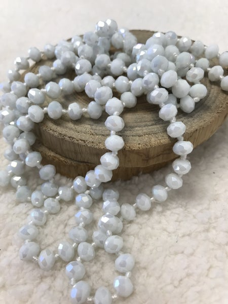 White Point Of Perfection Beaded Necklace