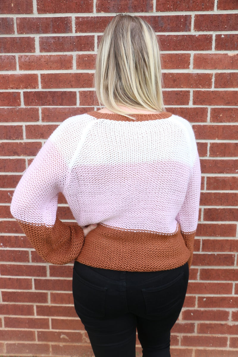 All You Do Colorblock Sweater in Multiple Colors - Sizes 4-20