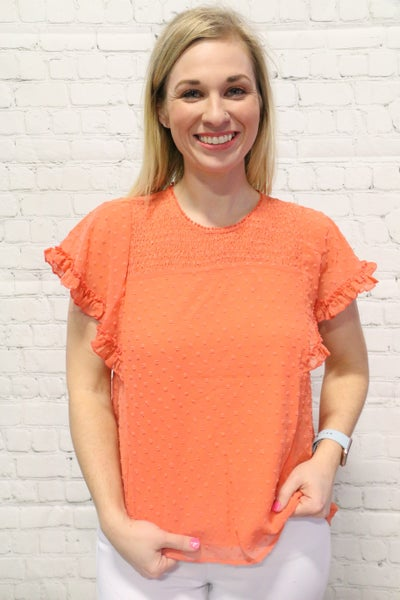 Galaxies Spinning Around Short Sleeve Ruffle Top - Multiple Colors - Sizes 4-10