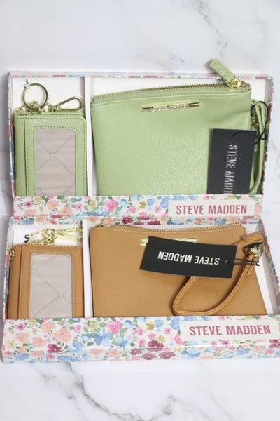 On The Go Steve Madden 2 Pc Wristlet/ID Holder In Multiple Colors
