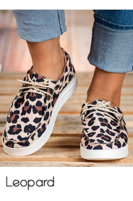 Right on Time Leopard Slip On Sneakers- Sizes 6-10