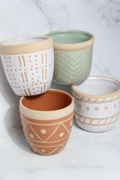 Set of 4 Ceramic Pots