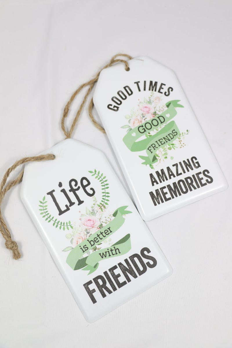 All For Love Metal Springtime Gift Tag With Jute Hanger In Multiple Sayings