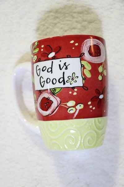 God Is Good Floral Mug