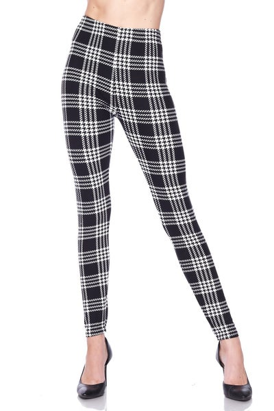 Remind Me Houndstooth Black Legging- Sizes 12-20