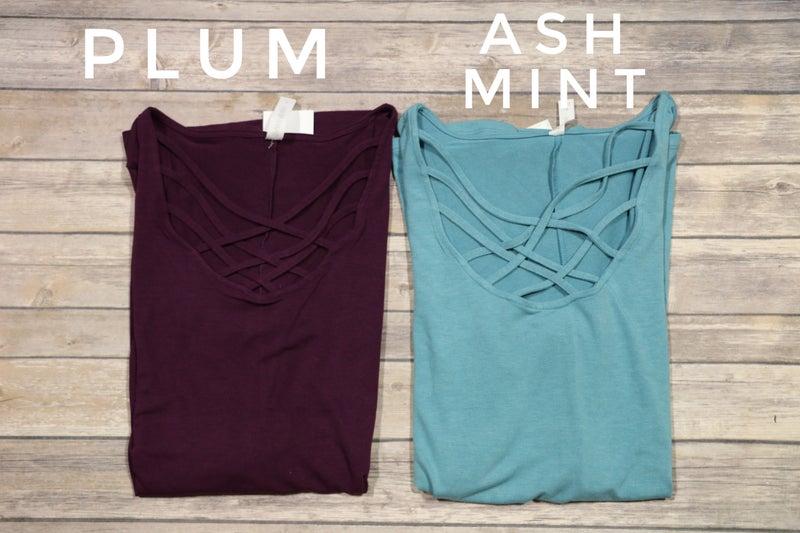Beyond Beautiful Short Sleeve Lattice Tunic- Sizes 4-20
