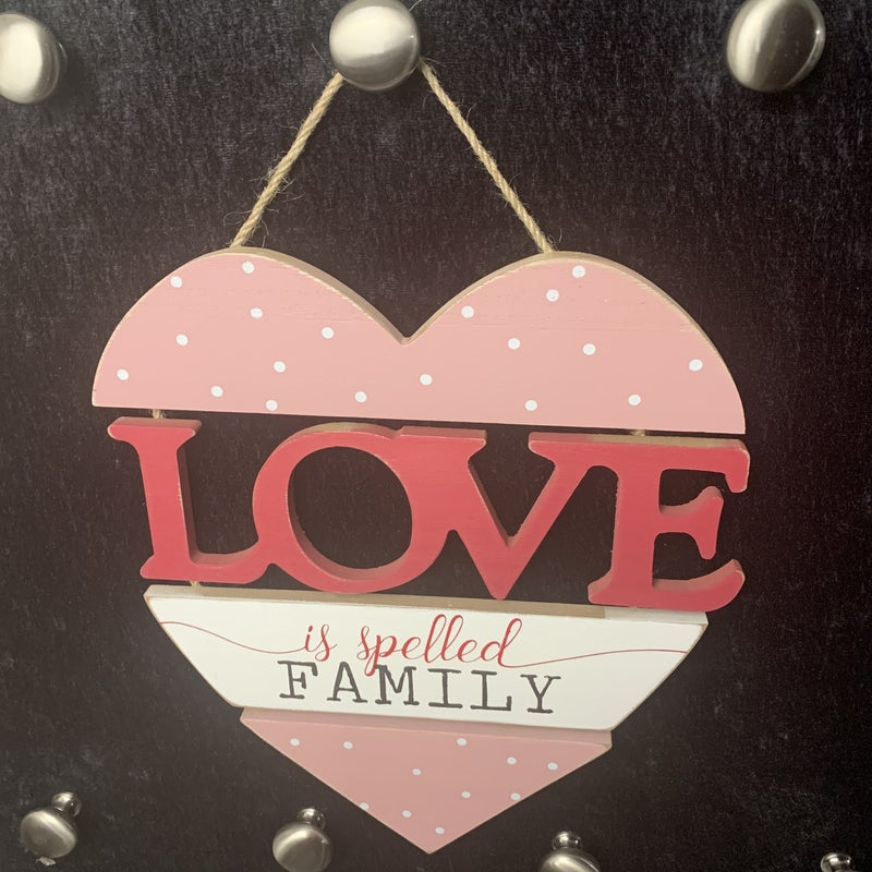 LOVE Is Spelled Family Segmented Wood Wall Decor