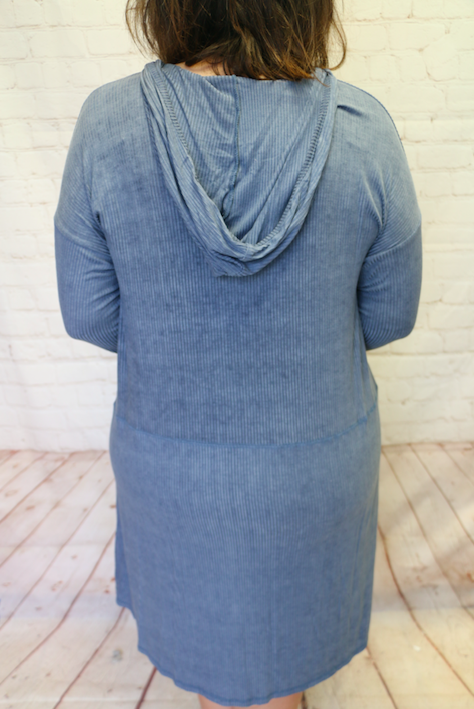 Be Mine Indigo Dress With Front Pockets- Sizes 4-10