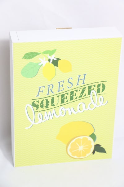 Fresh Squeezed Lemonade Box Sign