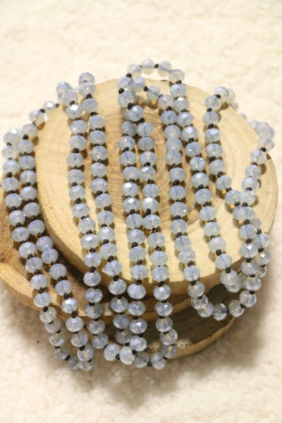 Point Of Perfection Beaded Necklace in Ice Blue