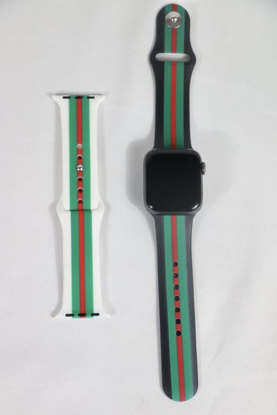 Preppy Girl Stripe Silicone Apple Watch Band - 42/44mm