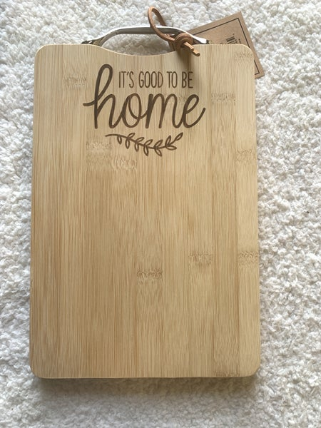 Good to be Home Cutting Board with Metal Handle
