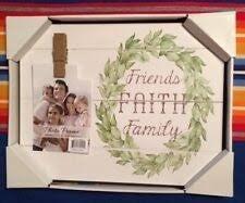 Friends, Faith, Family Photo Frame