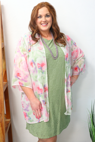 Forever in My Memory Floral Ivory Cardigan - Sizes 12-20