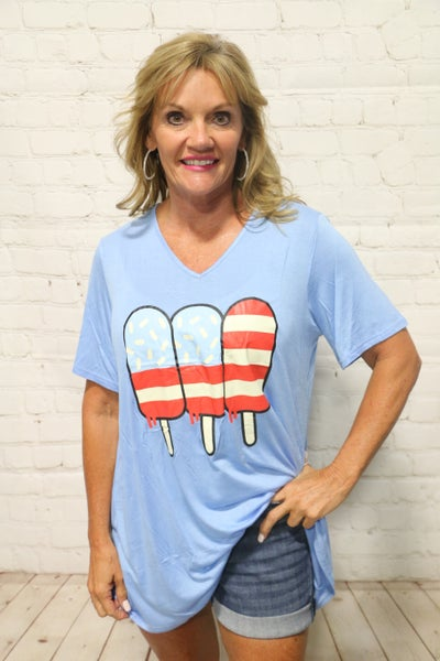 Summer Fun American Popsicle Graphic Tee - Sizes 4-20