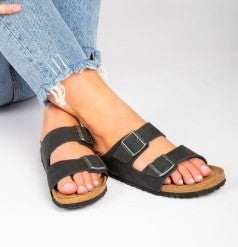 Walk Together 2 Strap Sandals In Multiple Colors