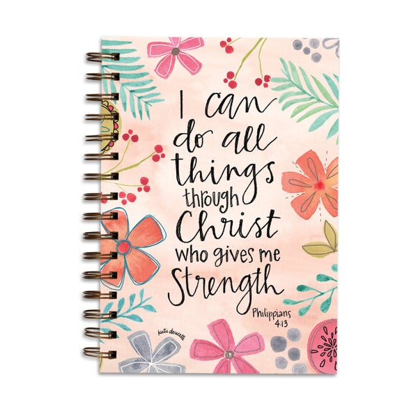 I Can Do All Things Through Christ Lined Journal