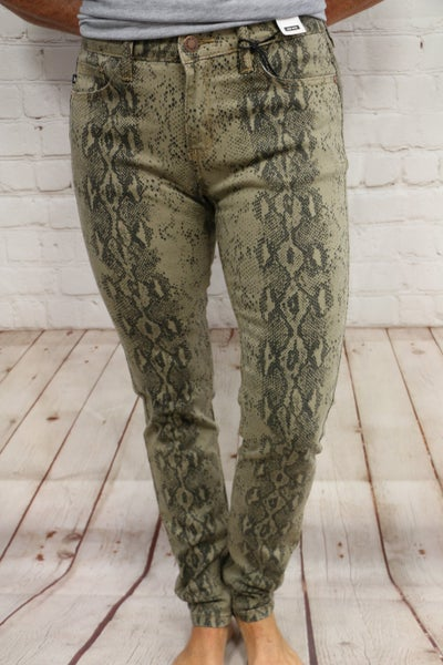 Snakeskin Jeans by Judy Blue - Sizes 4-20