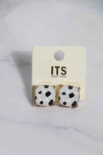 On The Spot Dalmatian Stud Earring