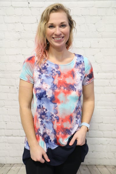 Follow Me Multi Colored Top Sizes 4-10