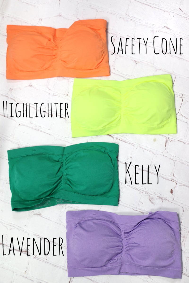 High Hopes Padded Bandeau in Multiple Colors - One Size - Sizes 4-10