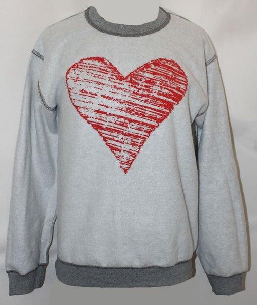 Inside Out Zigzag Heart Sweatshirt - Sizes 4-20