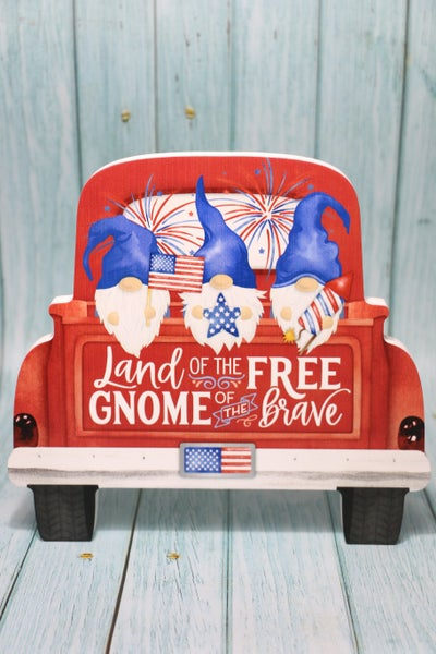 Land of the Free Gnome of the Brave Truck Table Topper