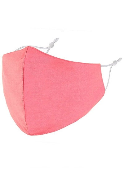 Lightweight Solid Color Cotton Face Mask in Multiple Colors