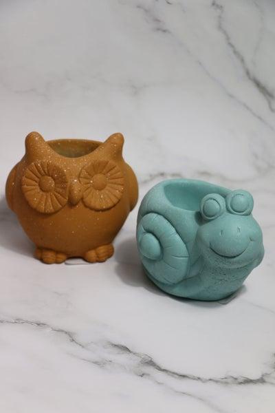 Garden Friends Resin Animal Pots In Multiple Colors