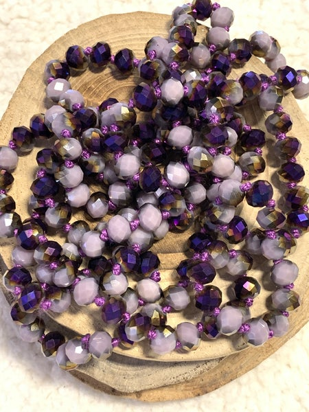 Purple Majesty Point Of Perfection Beaded Necklace