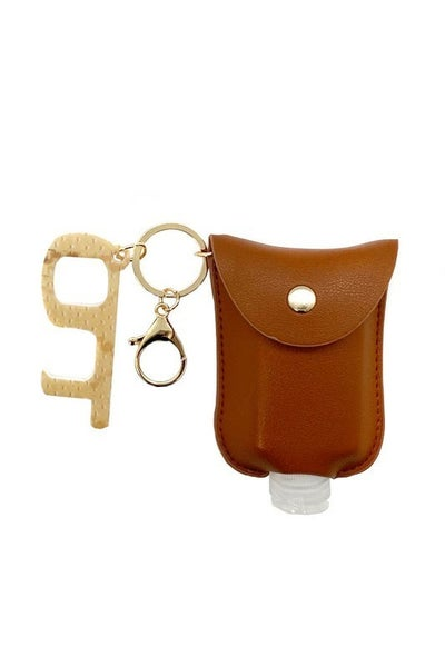 Cutest Ever Hand Sanitizer Pouches With Refillable Bottle & Contactless Key In Multiple Colors