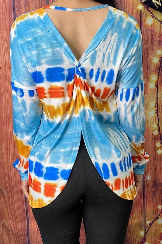 Special Request Tie Dye Top with Criss Cross Back - Sizes 4-20
