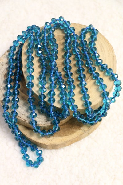 Point of Perfection Beaded Necklace in Neptune