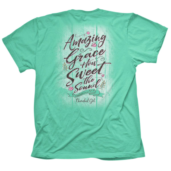 How Sweet the Sound White Wash Fence Mint Graphic Tee - Sizes 4-20
