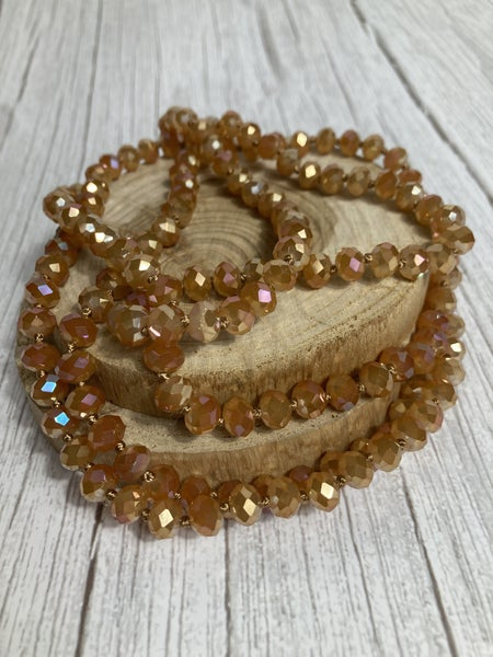 Apple Cider Beaded Point of Perfection Necklace