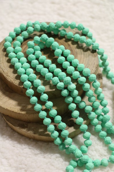 Lime Sherbet Matte Point Of Perfection Beaded Necklace