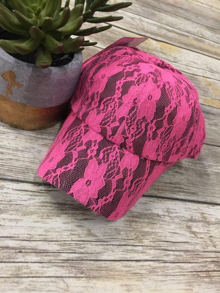 Hot Pink Lace Hat