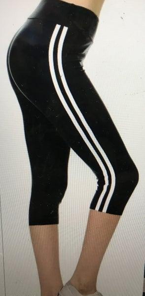 Comfort & Cuteness Striped Capri Leggings in Multiple Colors - Sizes 4-20