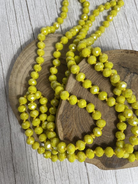 Lemon Point of Perfection Beaded Necklace